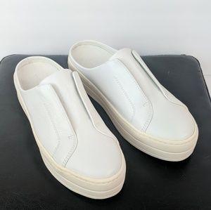 JSlides White Sneaker Slide Ons.     H19-Sh